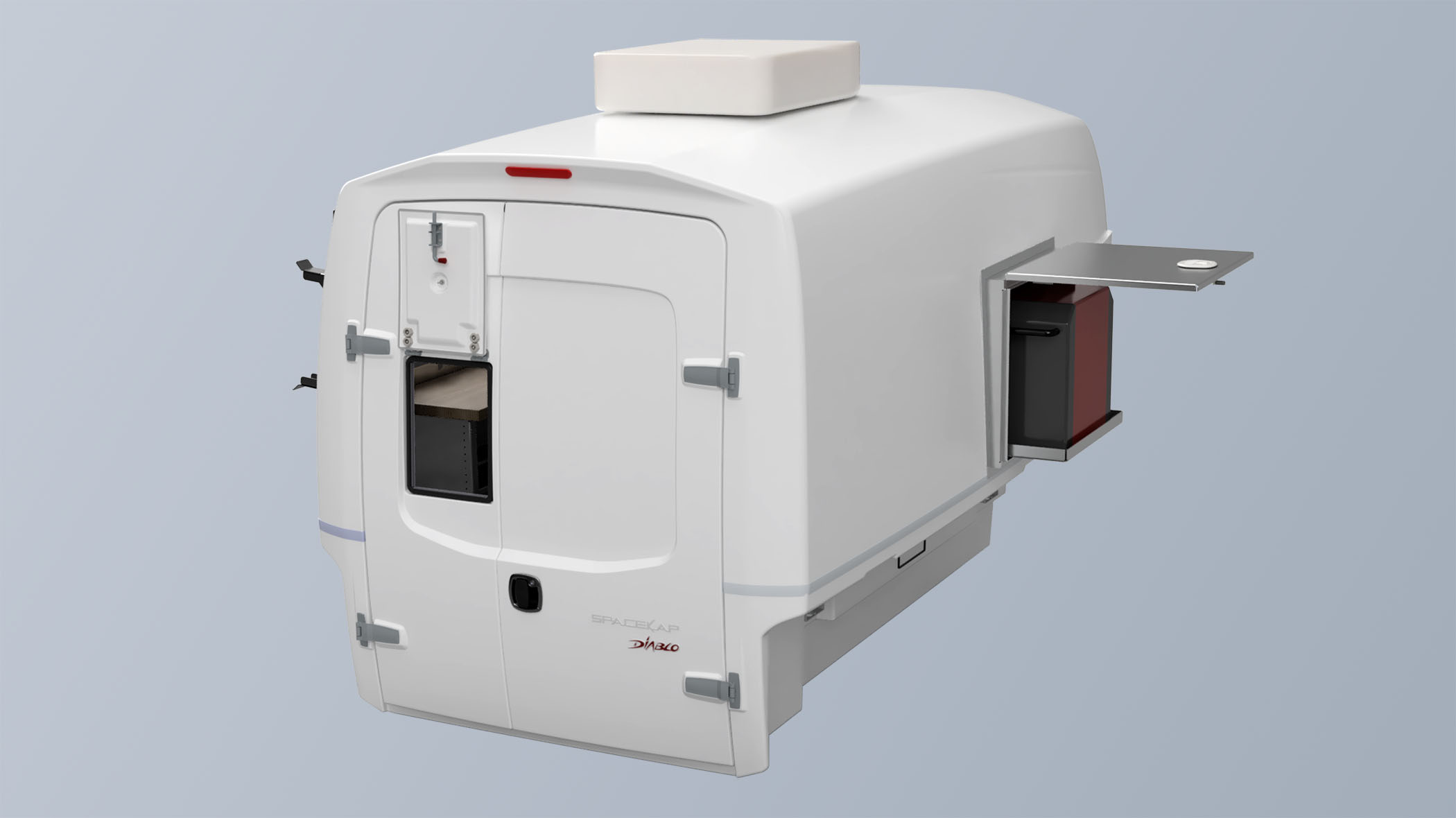 Fiber Optic Splicing Truck Service Body