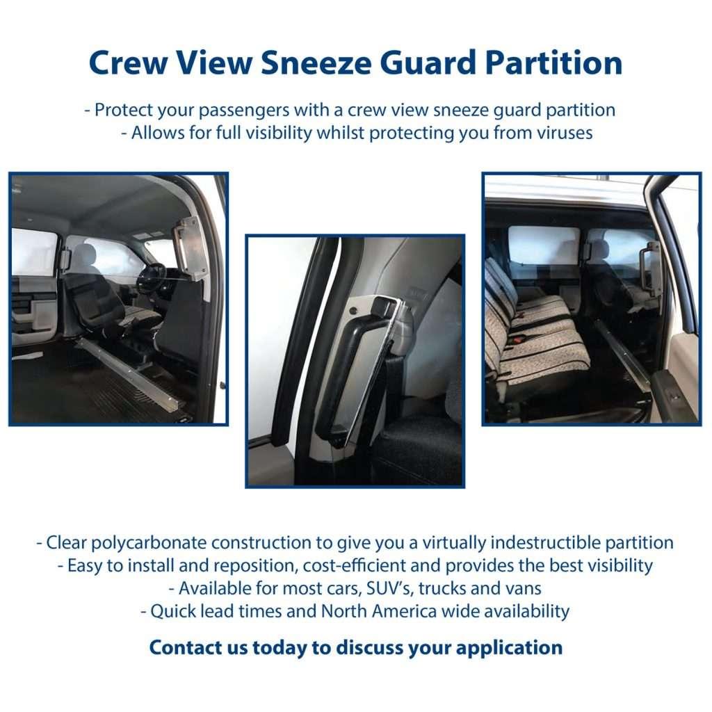 Crew View Sneeze Guard Partition