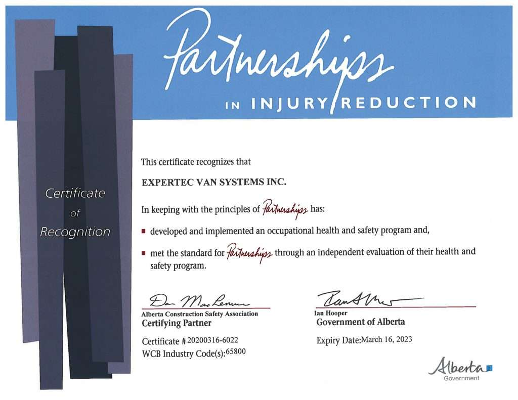 OHS Certificate of Recognition in Alberta - Expertec